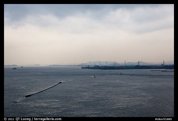 Incheon bay. South Korea (color)