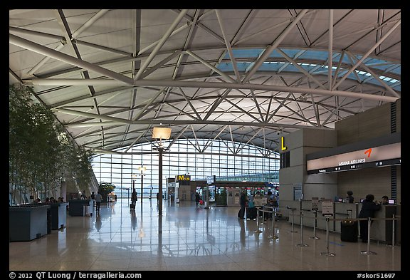 Inside Incheon international airport. South Korea (color)