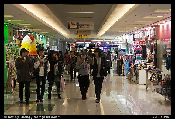 Underground shopping center. Daegu, South Korea (color)
