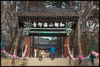 Entrance gate, Haeinsa Temple. South Korea ( color)
