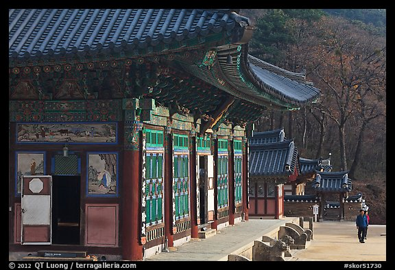 Haeinsa, temple of Jogye Order of Korean Buddhism. South Korea (color)