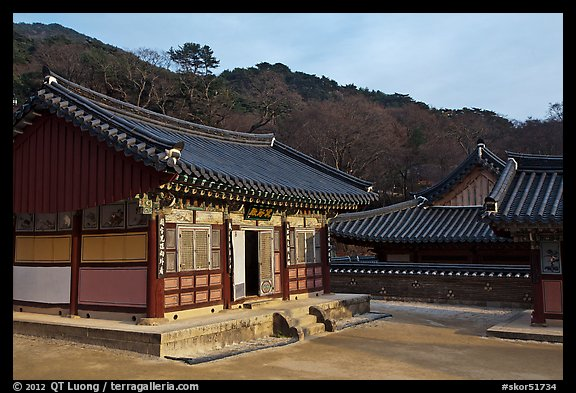 Haeinsa, Buddhist temple of Jogye Order in the Gaya Mountains. South Korea (color)