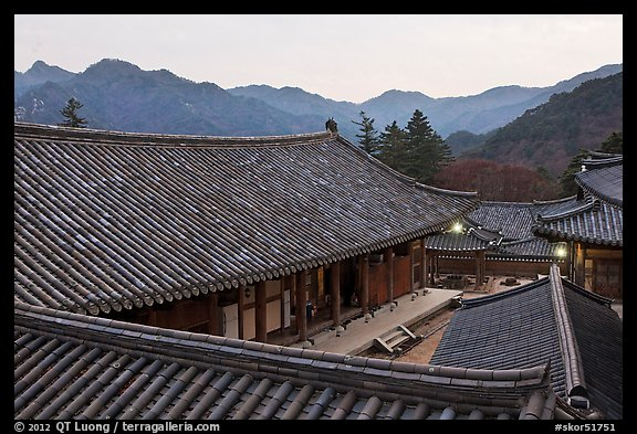 Rooftops, Haeinsa Temple. South Korea (color)