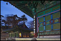 Haeinsa Temple at dusk. South Korea ( color)