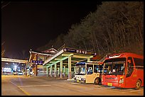 Bus station near Haeinsa at night. South Korea ( color)