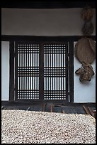 Nuts, screen door, and baskets. Hahoe Folk Village, South Korea ( color)