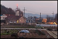Cultivation and church on outskirts of Andong. South Korea ( color)