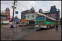 Bus stop and motels. Gyeongju, South Korea ( color)