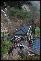 Sangseonam hermitage from above, Mt Namsan. Gyeongju, South Korea (color)