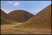 Large burial mounds. Gyeongju, South Korea