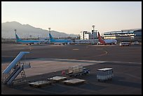 Gimhae International Airport tarmac, Busan. South Korea ( color)