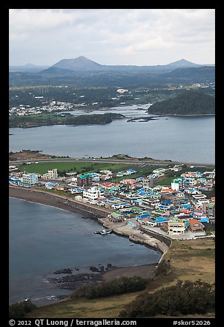 Seongsang-ri from above. Jeju Island, South Korea (color)