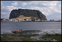 Seongsang-ri and Ilchulbong Seongsang. Jeju Island, South Korea (color)