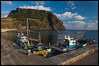 Fishing boats, Seongsang Ilchulbong. Jeju Island, South Korea