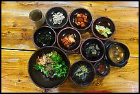 Korean meal. Jeju Island, South Korea (color)