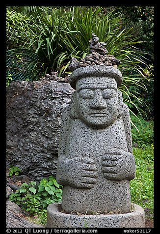 Dol Harubang statue, Seogwipo. Jeju Island, South Korea (color)
