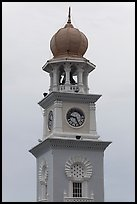 Victoria memorial clock tower. George Town, Penang, Malaysia ( color)
