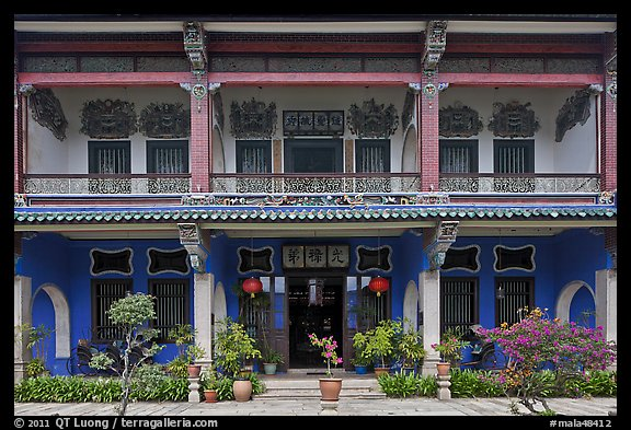 Facade, Cheong Fatt Tze Mansion. George Town, Penang, Malaysia (color)