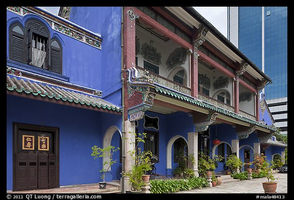 Cheong Fatt Tze Blue Mansion. George Town, Penang, Malaysia (color)