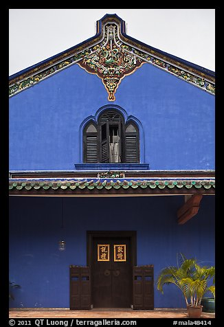 Aisle building, Cheong Fatt Tze Mansion. George Town, Penang, Malaysia (color)