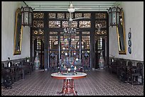 Entrance hall, Cheong Fatt Tze Mansion. George Town, Penang, Malaysia (color)