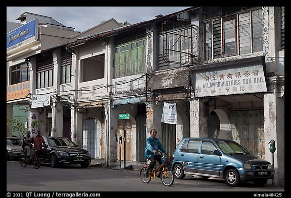 Old Chinatown storehouses. George Town, Penang, Malaysia (color)