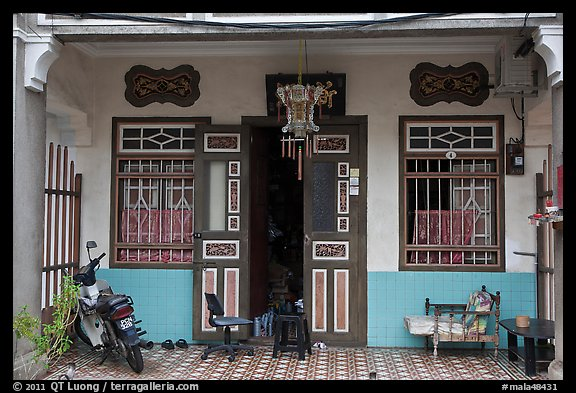 Townhouse entrance. George Town, Penang, Malaysia (color)