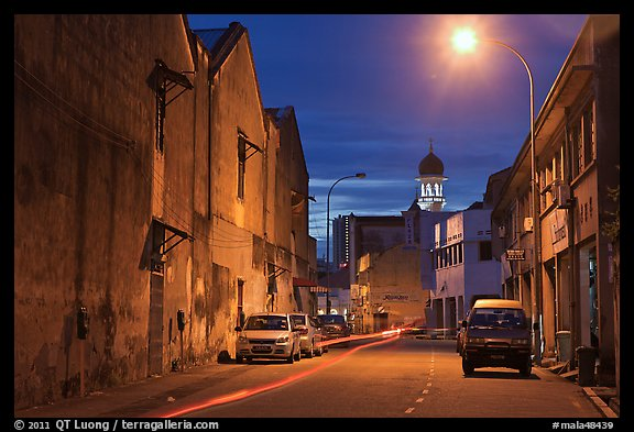 Street at night. George Town, Penang, Malaysia (color)