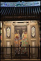 Temple doors by night. George Town, Penang, Malaysia ( color)