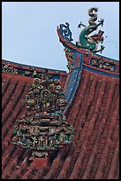 Roof detail, Kuan Yin Teng Chinese temple. George Town, Penang, Malaysia ( color)