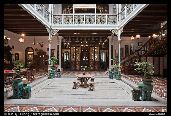 Picture Photo Courtyard Of Wealthy Baba Nonya Straits