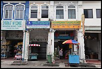 Chinatown shophouses. George Town, Penang, Malaysia ( color)