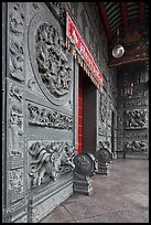 Stone courtyard, Hainan Temple. George Town, Penang, Malaysia (color)