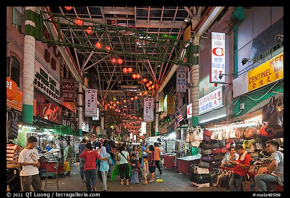 Picture Photo Jalan Petaling Street Market At Night