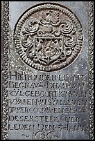 Tombstone of Dutch nobility. Malacca City, Malaysia ( color)