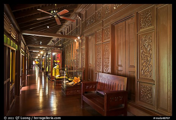 Corridor, sultanate palace. Malacca City, Malaysia (color)