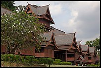 Replica of Sultans palace built without nails. Malacca City, Malaysia (color)