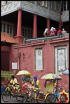Trishaws in front of Stadthuys. Malacca City, Malaysia