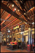Altar of Guanyin (Goddess of Mercy) inside Cheng Hoon Teng temple. Malacca City, Malaysia (color)