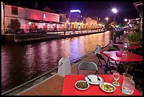 Riverside dining. Malacca City, Malaysia (color)
