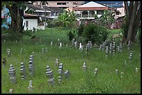 Overgrown Muslim burying grounds. Malacca City, Malaysia ( color)