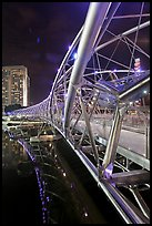 Double Helix Bridge at night. Singapore ( color)