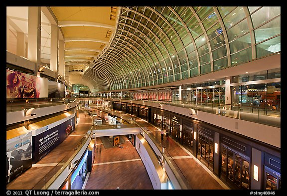 Inside the Shoppes at  Marina Bay Sands. Singapore (color)