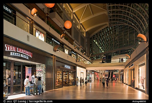 Stores in the Shoppes, Marina Bay Sands. Singapore (color)