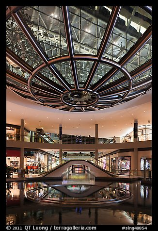 Canal and bridge, the Shoppes, Marina Bay Sands. Singapore (color)