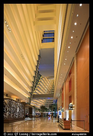 Main lobby, Marina Bay Sands hotel. Singapore (color)