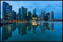 Central Business District (CBD) skyline, twilight. Singapore ( color)