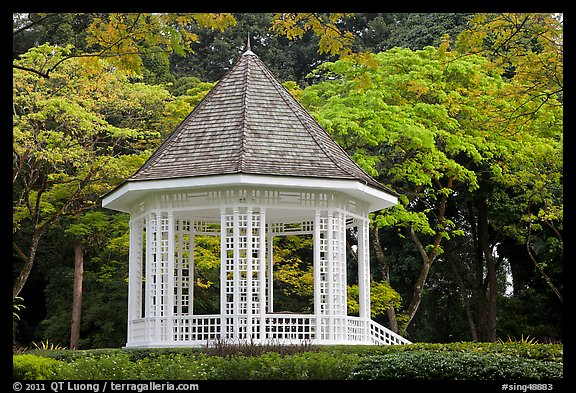 The Bandstand, Singapore Botanical Gardens. Singapore (color)