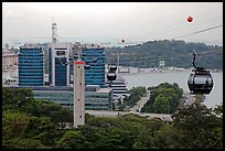 Mount Faber cable car. Singapore (color)