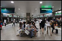 MRT subway train station. Singapore (color)